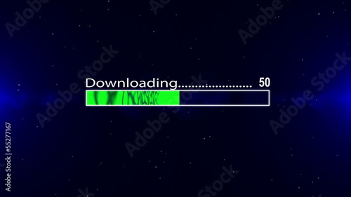 Downloading bar green