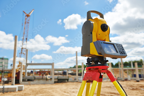 surveyor equipment theodolie outdoors