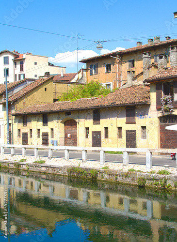 Block of flats on Naviglio, Milan