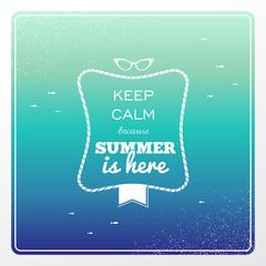 Vintage summertime holidays poster.
