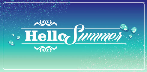 Vintage summertime holidays poster