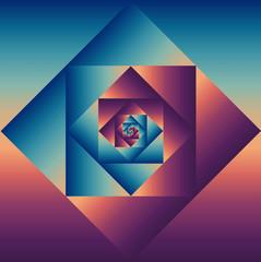 Vintage groovy geometric pattern.