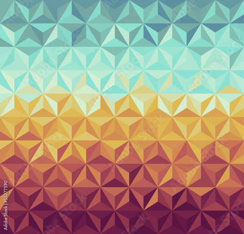 Sticker Retro hipsters geometric pattern.