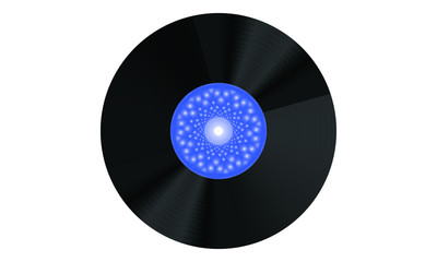 Gramophone Record, Record, Vynil Disc Blue