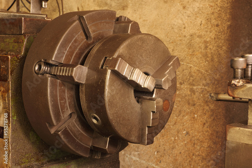 Part of the old lathe.