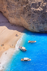 Navagio Zakynthos, Greece. Words most famous beach and shipwreck