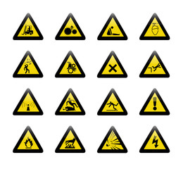 Danger warning sign vector