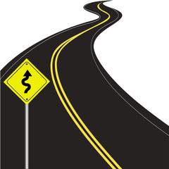Curvy road vector