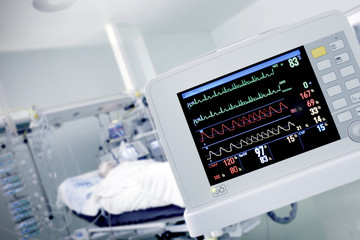 Cardio monitor in working with the patient