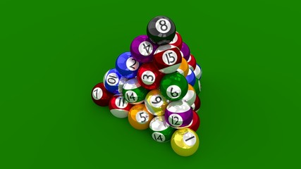 Eight Ball Pool Highest Score Constructed as Pyramid