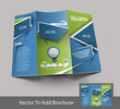 Vector Call Center Brochure Design Template