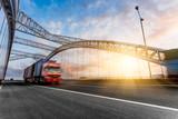 Fototapety truck motion blur