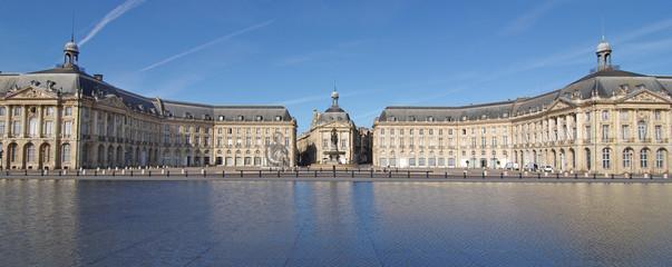 La place de la bourse à Bordeaux (Gironde)