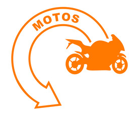 motos flèche orange