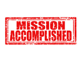Mission accomplished-stamp poster