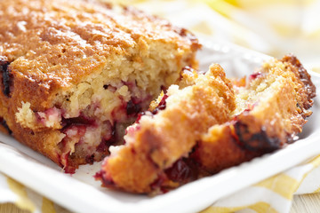 Plum oatmeal cake