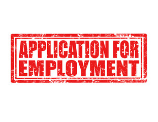Application for employment-stamp