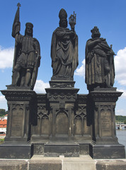 Sculptures on Charles bridge, Prague