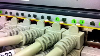 Netzwerkkabel am Hub