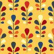 Abstract seamless floral pattern. Eps 8 vector illustration