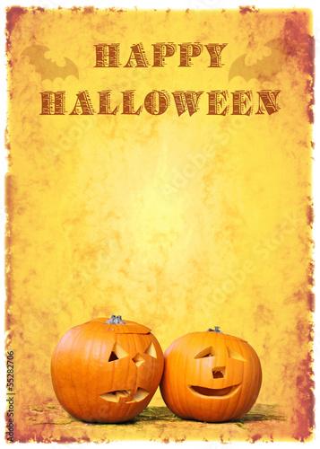 happy halloween kürbisköpfe vintage