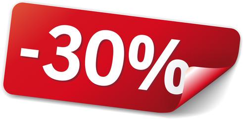 sticker 30% sparen