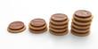 Une rangée de biscuits
