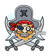 Pirate Captain Mascot - Vector Cartoon Illustration