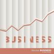 Vector Business Bar Chart Concept