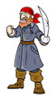 Captain Pirate - Vector Cartoon Illustration