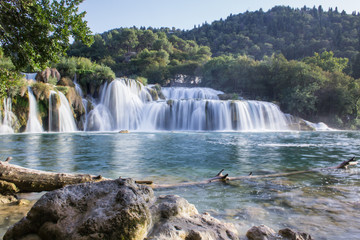 Amazing waterfall in Krka National Park, Croatia