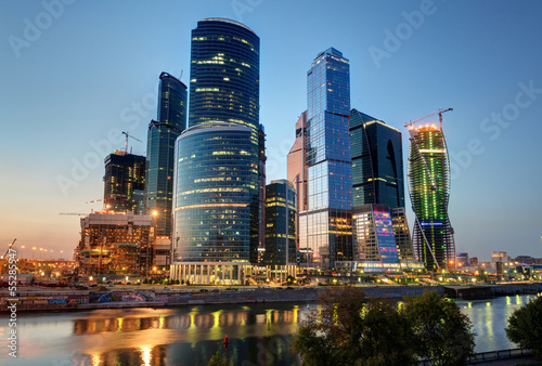 Moscow-city (Moscow International Business Center) at night