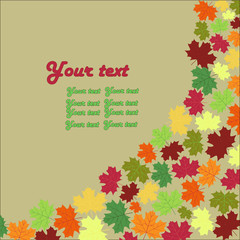 autumn maple leaves background card