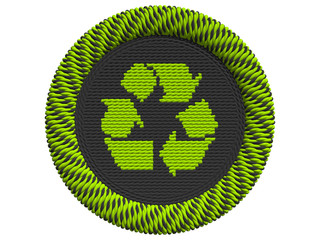 Recycling Icon mit 3 Pfeilen