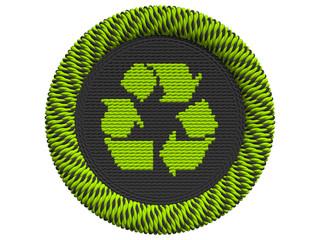 Recycling Icon mit 3 Pfeilen