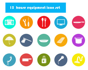 House equipment icon set