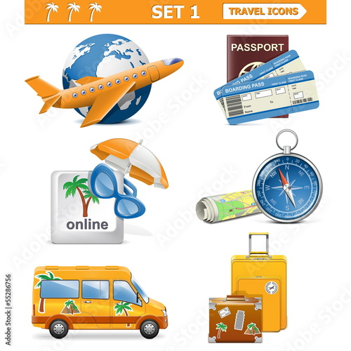 Vector travel icons set 1