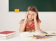 Überforderte Schülerin