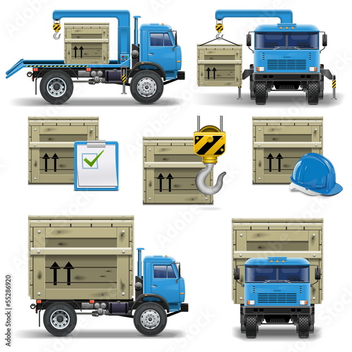Vector shipment icons set 7