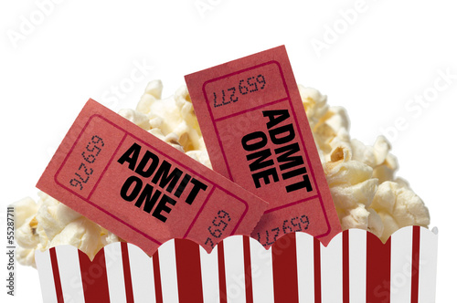 Movie Night Isolated On White Background