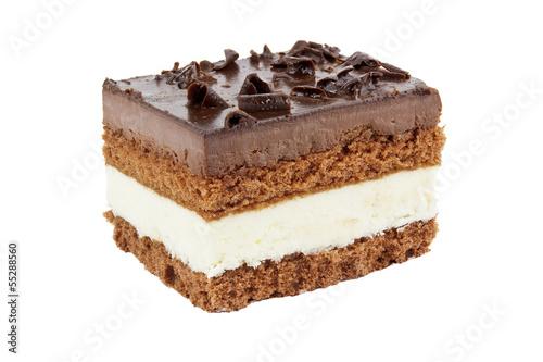 Stück Schokoladenkuchen