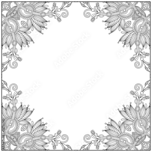 vintage ethnic ornamental template