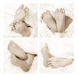 newborn baby feet collage