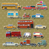 Cars cartoon stickers