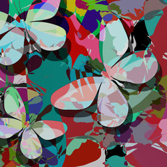 Butterflies abstract