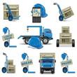 Vector shipment icons set 6