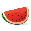 watermelon slice isolated illustration