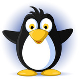 happy baby penguin cartoon