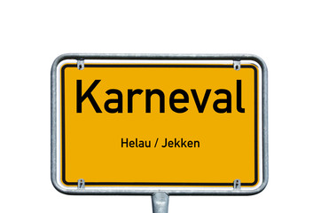 Schild - Karneval