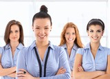 Female front office workers in uniform